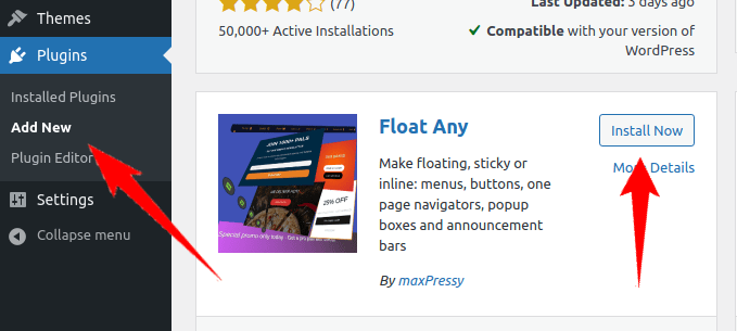 Search for the plugin and install it