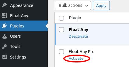 Activate a plugin