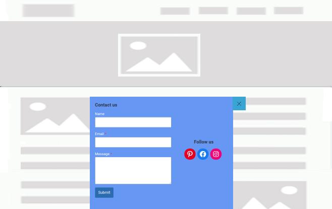 FloatAny - using scenario: contact form and social follow