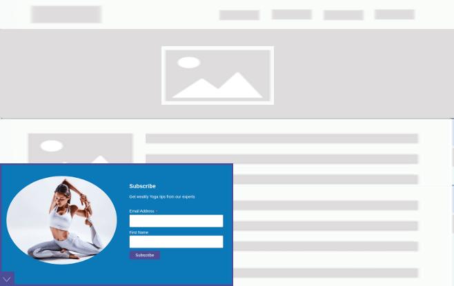 FloatAny - using scenario: Subscribe to Yoga tips