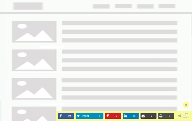 FloatAny - using scenario: Embed Sharing buttons with counts