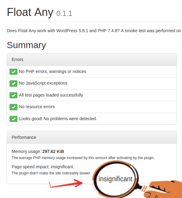 FloatAny - performace and securite test